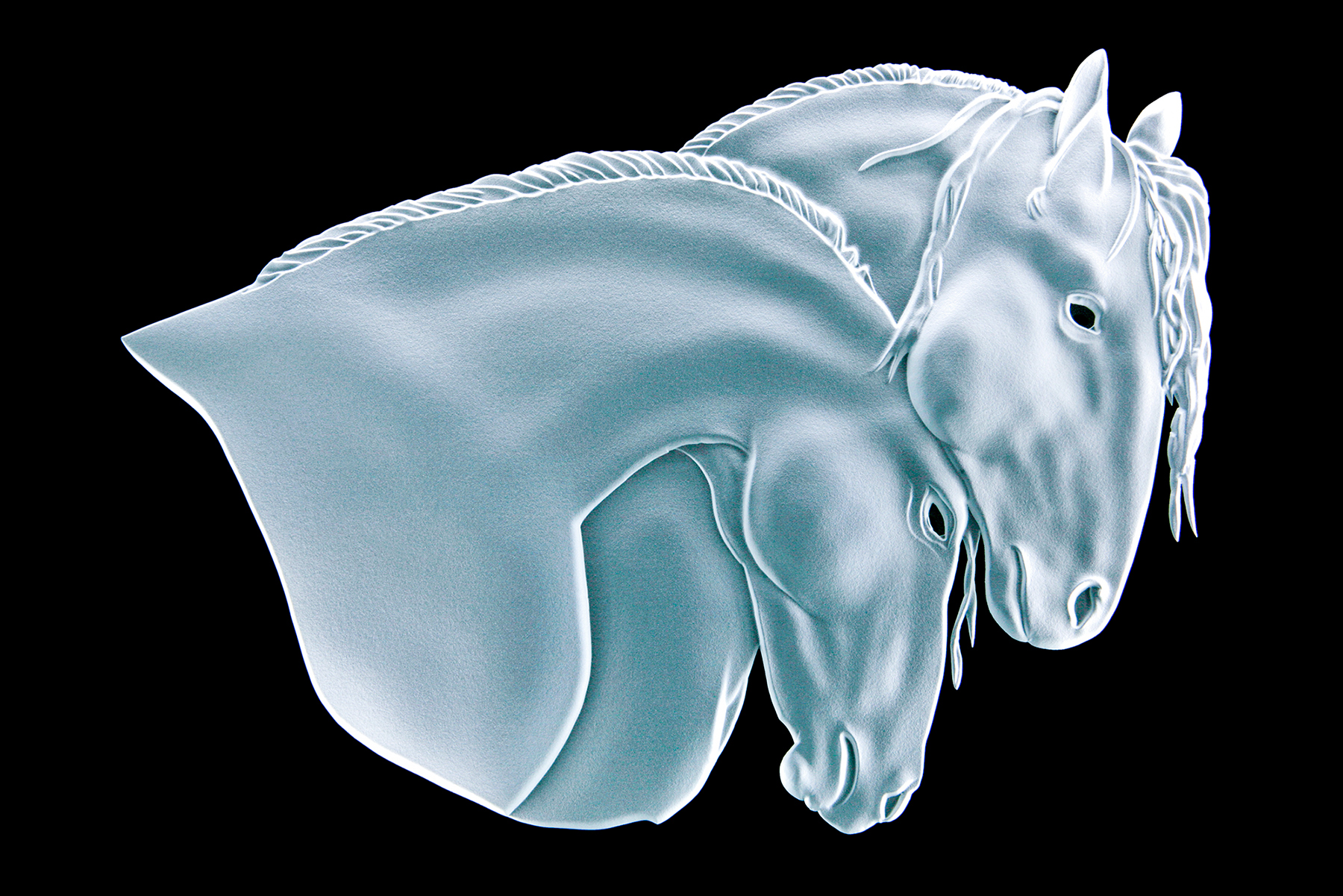 Friesian Horses-Sand-Carved-Glass-Lex-Melfi-Copyrighted